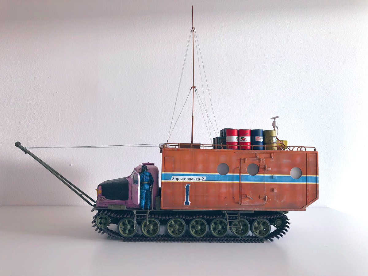 """Building the Soviet Antarctic Tractor """"Kharkovchanka-2"""", a thread.   Grab something to drink, this may take a while. 😄🍻 https://t.co/5E4zzBXb8J"""