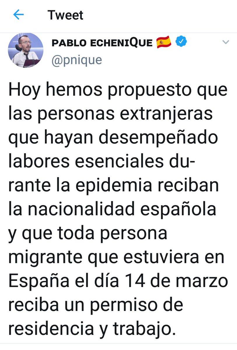Puto Echenique al final nos tendremos que marchar los españoles de nuestro propio país pedazo de mierda💩 https://t.co/nHKO8gbHpF