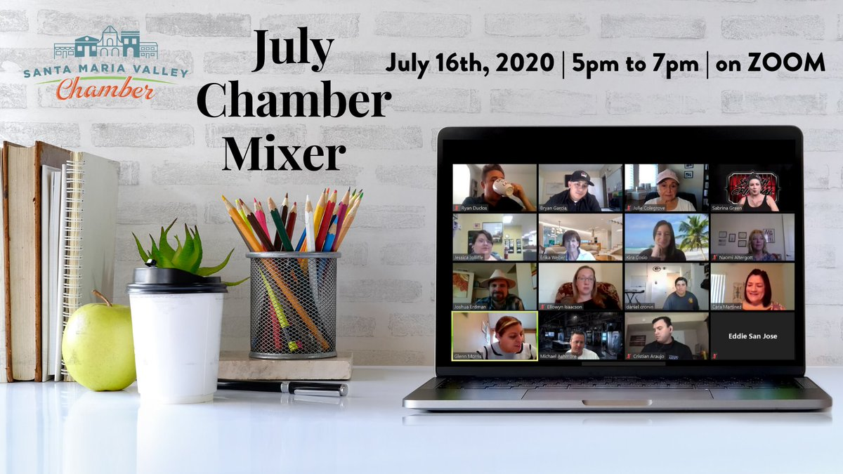 Chamber Events | The Chamber's monthly #mixer has gone #virtual and we invite you to be a part! Come together some #networking and #social engagement, while continuing to #StayHomeStayHealthy https://t.co/4GCltFOAJ1 https://t.co/YE1wOsLR6o