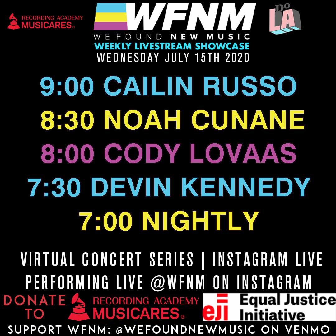 Announcing our livestream lineup for next Wednesday, July 15th! Tune in at 7pm PT for back to back full sets by these must know artists + brief interviews at the end of their sets with @GrantOwensMusic! All sets will benefit @MusiCares! 7-9:30pm PT! https://t.co/jjxiRbcVmW