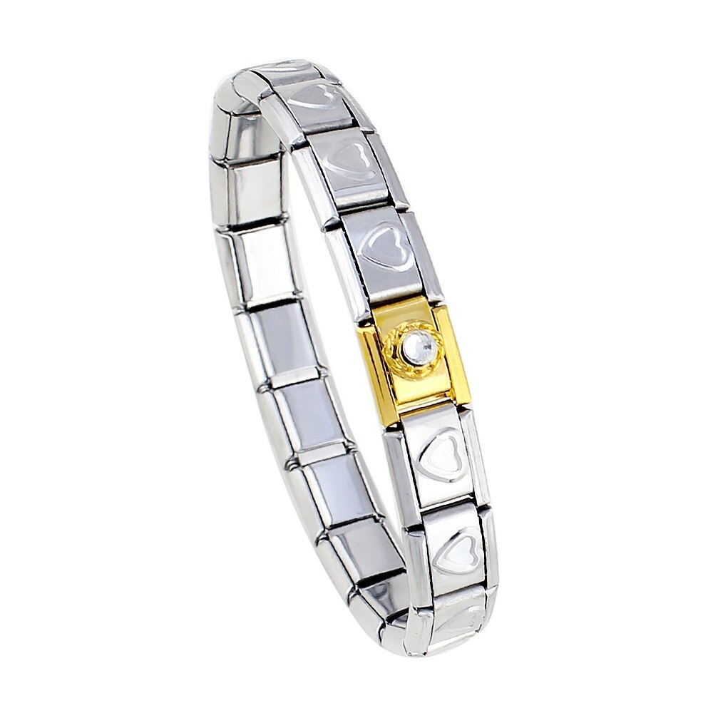 HAPPY Italian-Style Elastic Stainless Steel Bracelet -    #artisan #jewelrydesign #jewelrygram #jewelrymaker #etsyshop #etsyjewelry