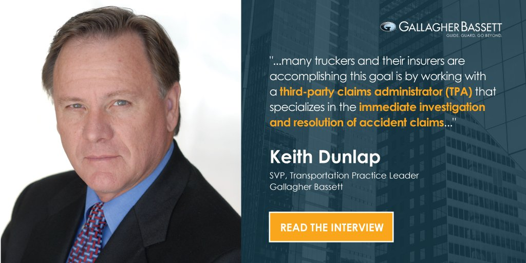 Keith Dunlap weights in on how TPAs can minimize the impact of nuclear verdicts in the #trucking industry in this recent @PC_360 article. Read the full article here: bit.ly/2ZNgYqg