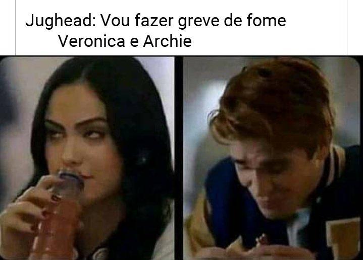 KKKKKKK  #Riverdale #VerônicaLodge #ArchieAndrews #JugheadJonespic.twitter.com/9M3yurZRb5
