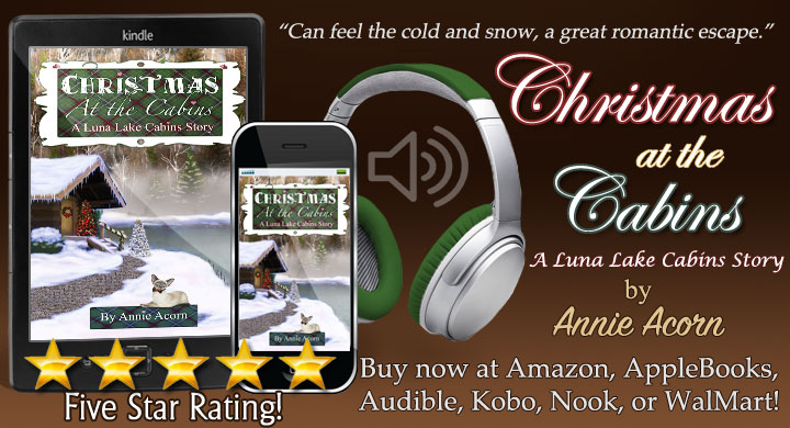 NOW in Audiobook Christmas at the Cabins written by me and narrated by Shelley Applebaum  and  or  #audiobook #Christmas #Romance #Family #TW4RW #SNRTG #IARTG #authorRT