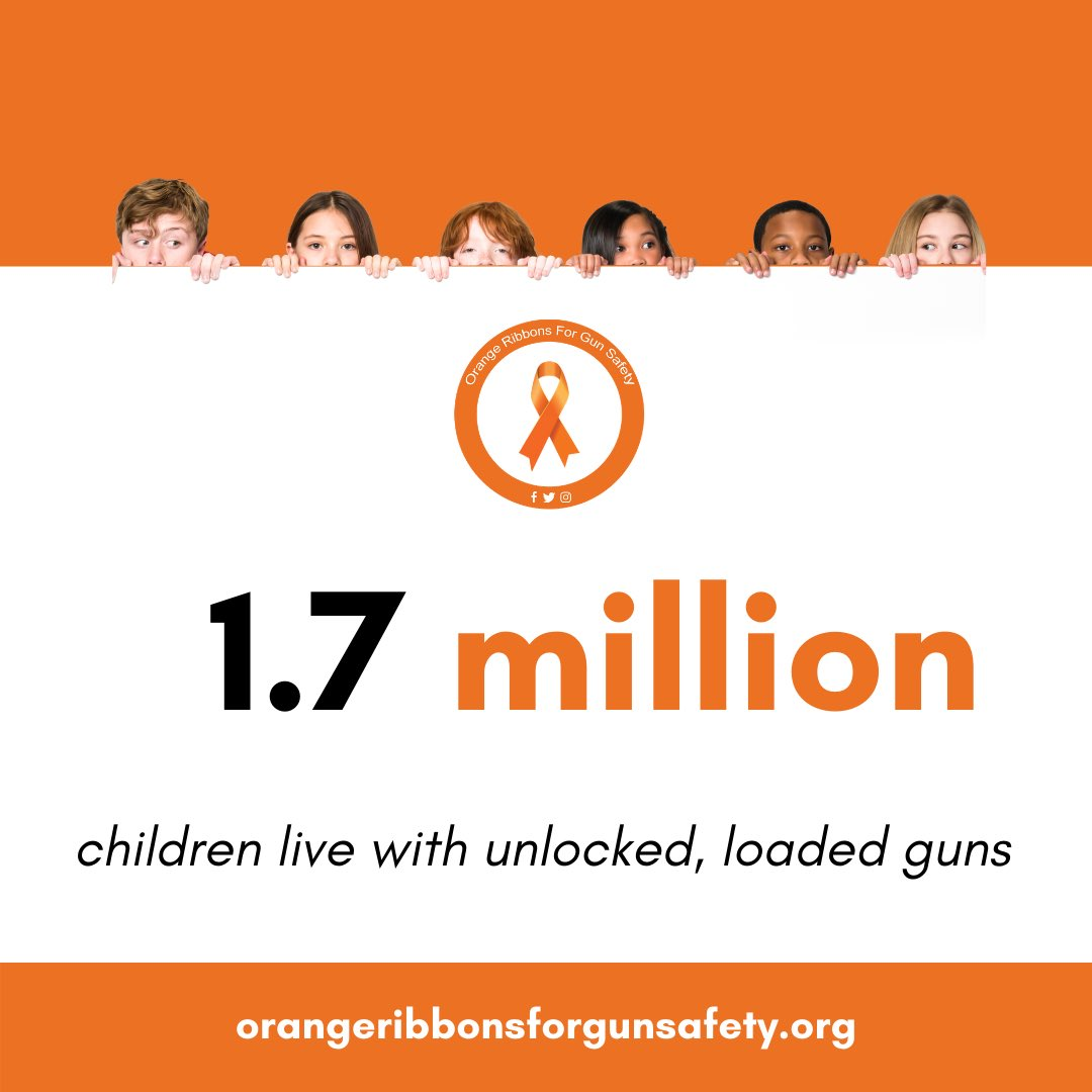Here's 1.7 million reasons why safe storage requirements are essential. Laws like these save lives and protect our children! For more information, visit https://t.co/WsodTzurbl.   #OrangeRibbonsForGunSafety https://t.co/btxGWkzVcW
