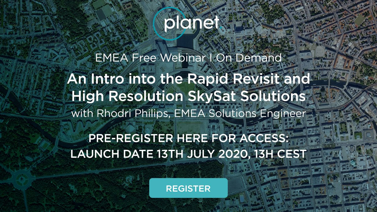 Get to know some of our new high-res offerings in this July 13th introductory webinar! Pre-register now. https://t.co/VYBtgkJGEt https://t.co/7PJeavnN1y