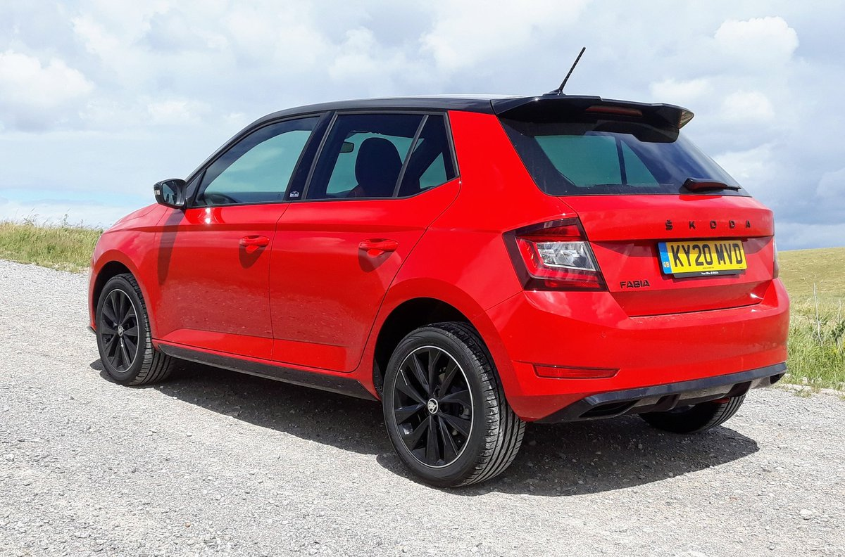 This week I've been road testing the Skoda Fabia Monte Carlo - loving the colour combo...