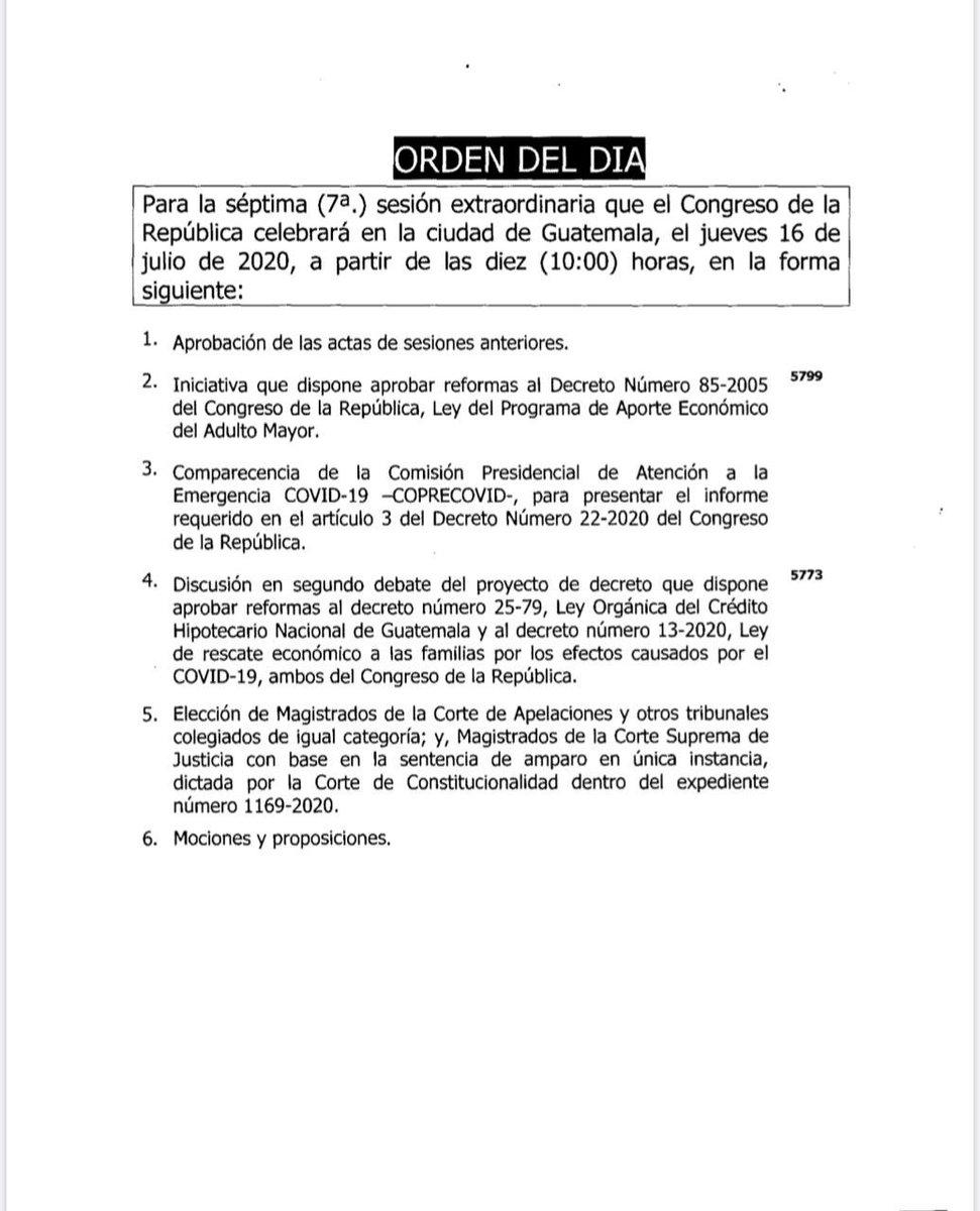 test Twitter Media - Esta es la agenda de la plenaria que se realizará la próxima semana, como último punto se dejó la elección de Cortes. https://t.co/EWMW0jsDtH
