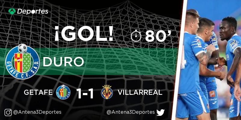¡GOL de Hugo Duro (Getafe)! Getafe - Villarreal 1-1. En directo: https://t.co/SQXBKK8gVX https://t.co/IKH5tI8smT