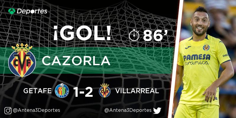 ¡GOL de Santiago Cazorla (Villarreal)! Getafe - Villarreal 1-2. En directo: https://t.co/SQXBKK8gVX https://t.co/WHmwhcRRl3
