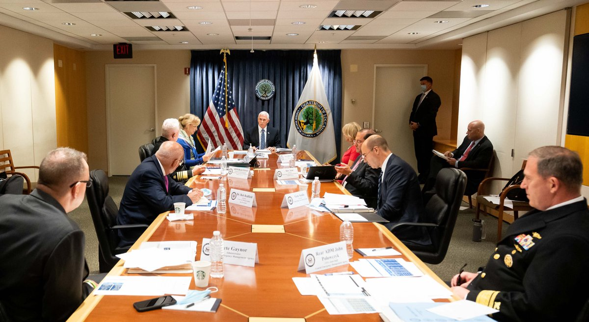 The @WhiteHouse Coronavirus Task Force met today to discuss the impact of closed schools on millions of American families & a path forward for reopening America's schools this fall. For our kids development, our working families, and our economy, we MUST Open Up Schools Again! https://t.co/PAVunK6KX5