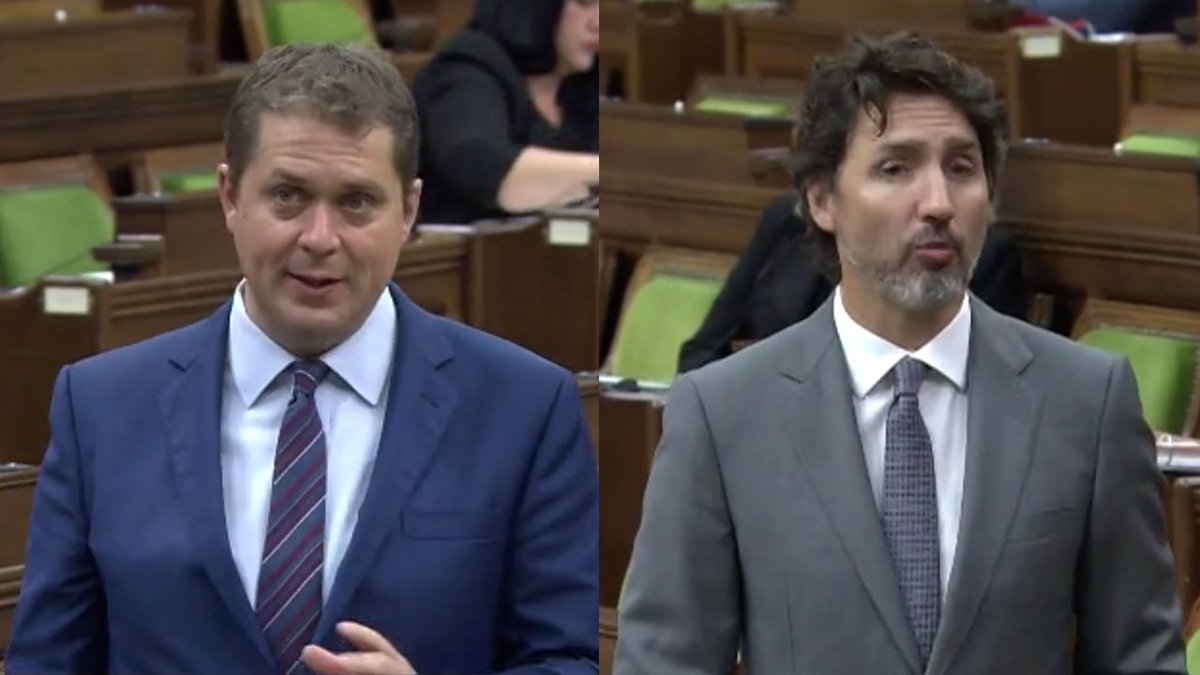 "Andrew Scheer asks Justin Trudeau if he will waive ""all privileges and confidences so that the Ethics Commissioner can do a full and proper investigation"". #cdnpoli   Trudeau's response was untruthful. pic.twitter.com/1oNEnoFLI6"