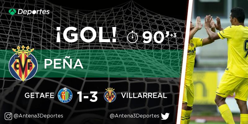 ¡GOL de Rubén Peña (Villarreal)! Getafe - Villarreal 1-3. En directo: https://t.co/SQXBKK8gVX https://t.co/LJGJaLbO2l