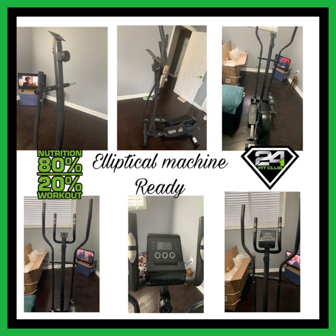 I finally finished putting my elliptical machine together with one good hand. Let elliptical challenge begin. #homegymequipment #homegym #weightlosstransformation #cardioworkout #ellipticalworkout #elliptical #doingme  http:// krsfit24.goHerbalife.com    <br>http://pic.twitter.com/pJgNuConxO