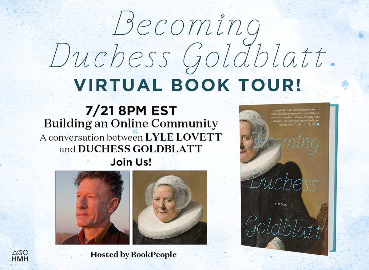 Congratulations to @duchessgoldblat on her book release! I look forward to speaking with her July 21. Click here to register and watch: