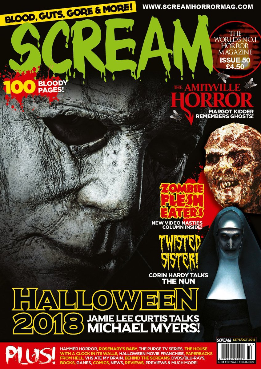 Subscribe to SCREAM MAGAZINE... 100 pages in full BLOODY colour. 5 editions of the bi-monthly magazine are delivered to your door anywhere in the world from England...   https://t.co/OwiU7stNex  #HalloweenKills #MichaelMyers #JohnCarpenter https://t.co/MSm6K1nw35