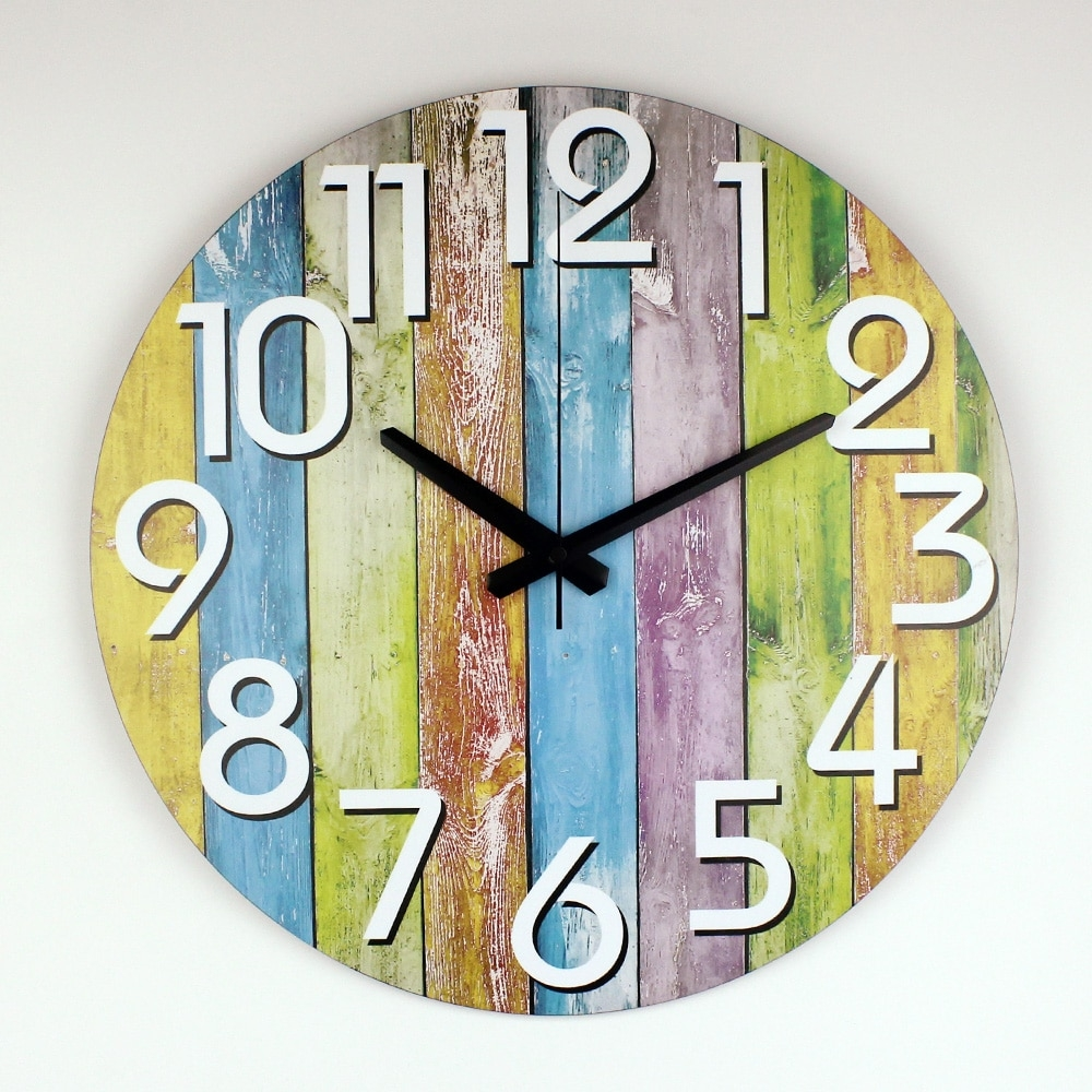 #instadaily #kitchen Modern Colorful Stripes Digital Wall Clock for Home Decor