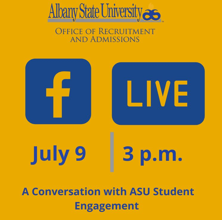 Want to get involve in campus activities and student organizations on campus? Join us tomorrow at 3pm on FB Live to find out how YOU can stay active and engage on campus! https://t.co/NmloftgRcM