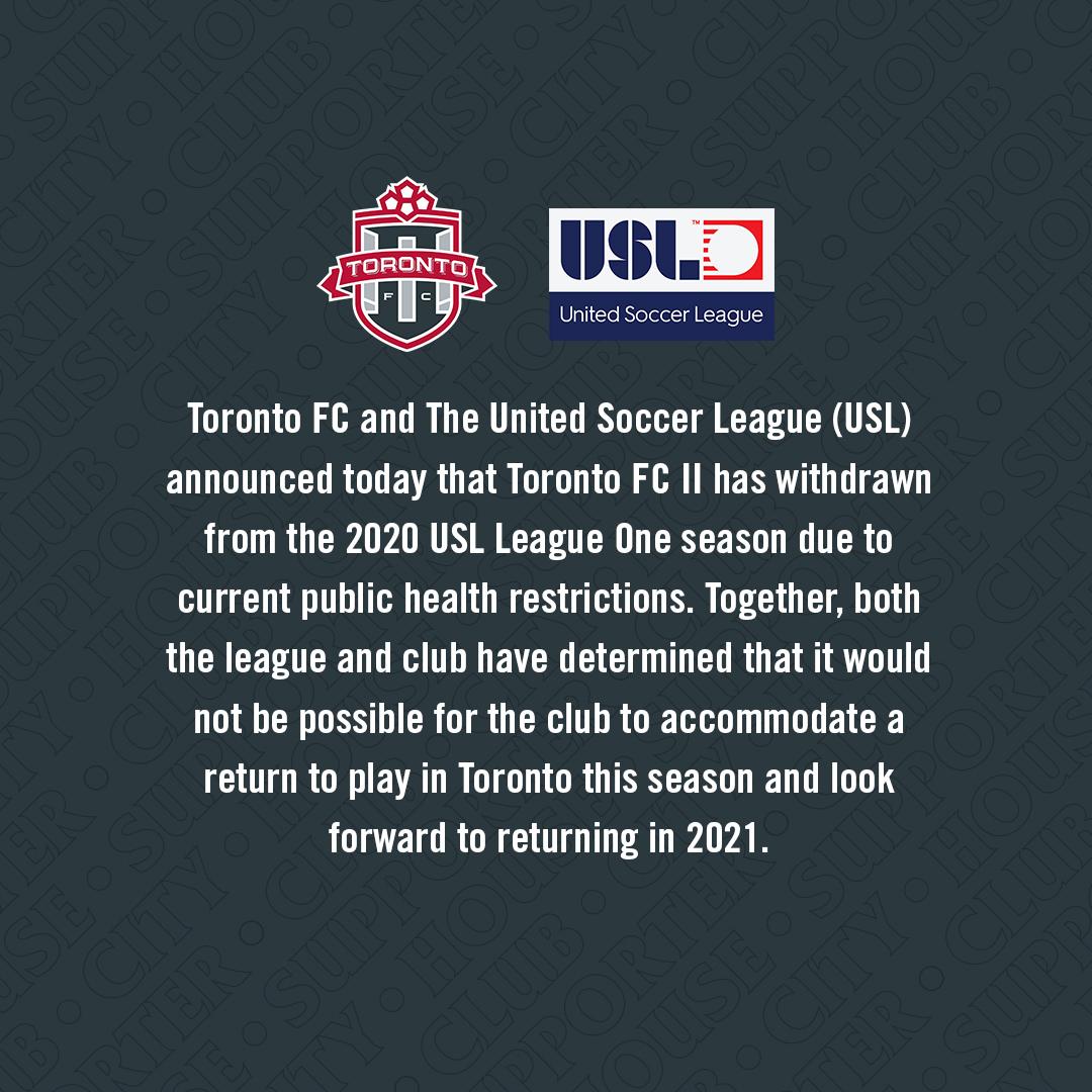 Club statement regarding the 2020 season.   #TFCLive https://t.co/WeyE0fkELH