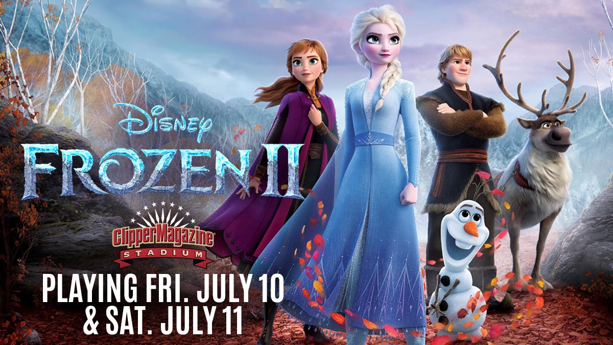 """Playing this Fri & Sat at the Summer Movie Series presented by @HallerEnt @HighCompanies @TurkeyHillDairy - """"Frozen 2!"""" 🥶🧊❄  🎟 & Info: https://t.co/l1fPFSBGQ7 https://t.co/D9qQD5Ax3n"""