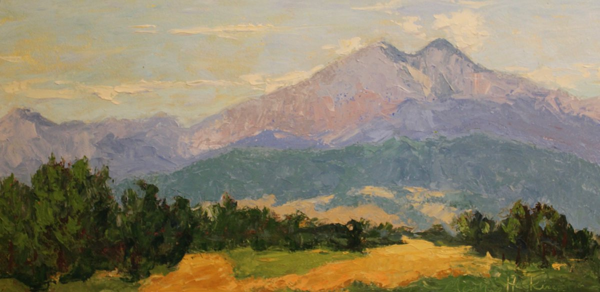 Where There's Green There's Blue Exhibit & Sale at Framed Image Longs Peak by Susan Haskins, Oil, 24x12 ,$525 https://www.framedimage.net/ #artgallery #art #Colorado #Denver #fineart #interiors #artwork #landscape #interiordesign #artconsultant #14er #backcountry #hiking #highcountry pic.twitter.com/Wids0haeSy