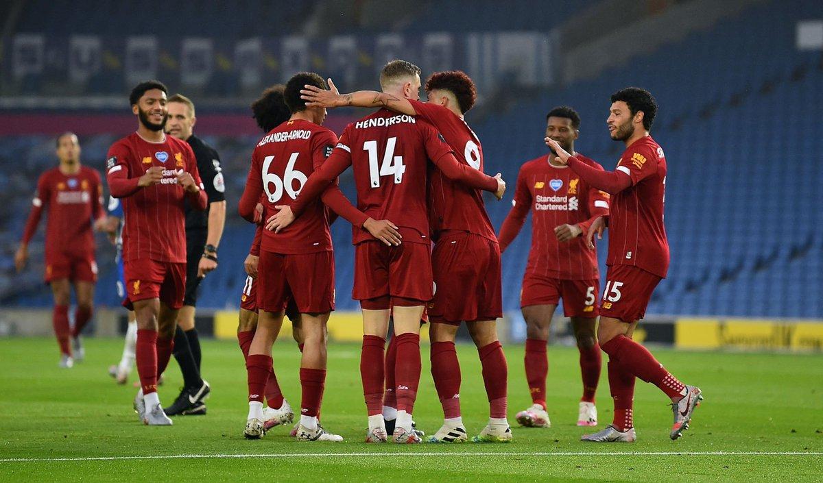 FIM DE JOGO!  Brighton 1x3 Liverpool.  ⚽ Trossard | Salah (2) e Henderson. https://t.co/VNCPcOqeaN