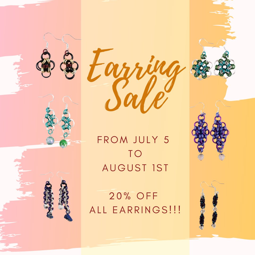 Earring SALE!!! 20% OFF ALL MONTH!!!!! https://buff.ly/2UvqX2b #earrings #earringsoftheday #earringstagram #earringswag #earringshop #earringsforsale #earringsLover #earringsaddict #earringshandmade #earringsfashion #earringsshop #earringslove #earringstudspic.twitter.com/fxoR9AHSGU