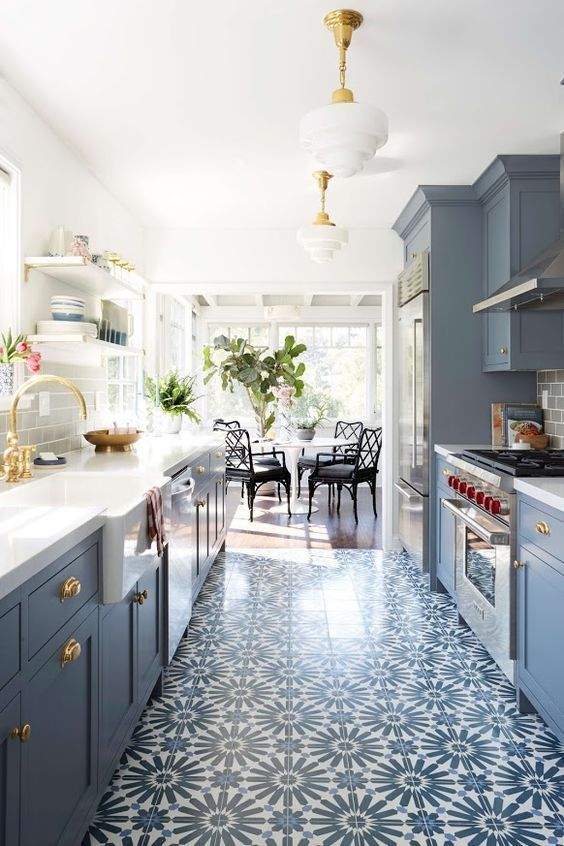 What do you think of this Moroccan inspired flooring?   #wednesday #kitchen #homeinspo
