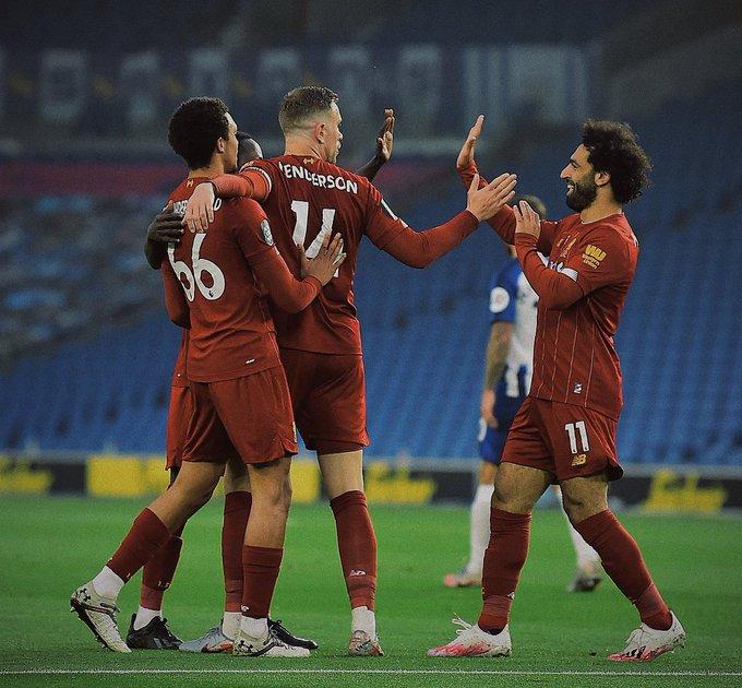 """[#PremierLeague🏴] Con tantos de Mohamed Salah en dos ocasiones y otro de Jordan Henderson, #Liverpool🏴 derrotó 3-1 de visitante al #Brighton🏴 por la Fecha 34. Los """"Reds"""" van por el récord de puntos en la liga loca, mientras que las """"Seagulls"""" se mantienen en la mitad de tabla. https://t.co/bgNjezXyDo"""