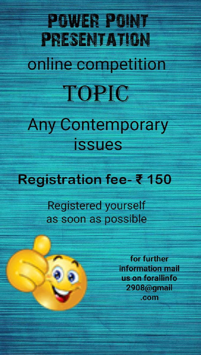 DM me for further information #presentation #Contest #fun #knowledge #fun #contemporaryissue #COVID19  Registered yourself as soon as possible.