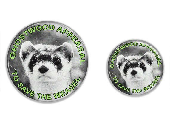 Stop the Ghostwood development and save the endangered Pine Weasel from extinction! Now you can show your environmental side with this Twin Peaks inspired badge   #TwinPeaks #AgentCooper #BlackLodge #RedRoom #DavidLynch
