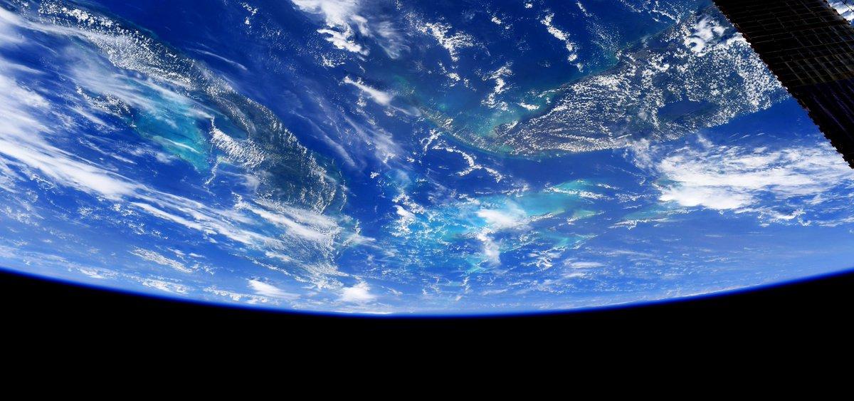 Florida, Cuba, and the Bahamas.    Planet Earth, beautiful and round. #WednesdayWisdom