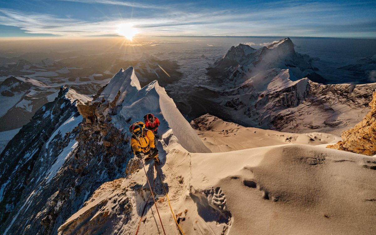 """""""Suddenly, everyone was yelling. Four people hung over the lip of a thousand-foot ice wall, like a string of Christmas lights."""" @NatGeoMag #Everest #Mountaineering https://t.co/WoNKGj2oYI https://t.co/JShN7BZ3Wk"""