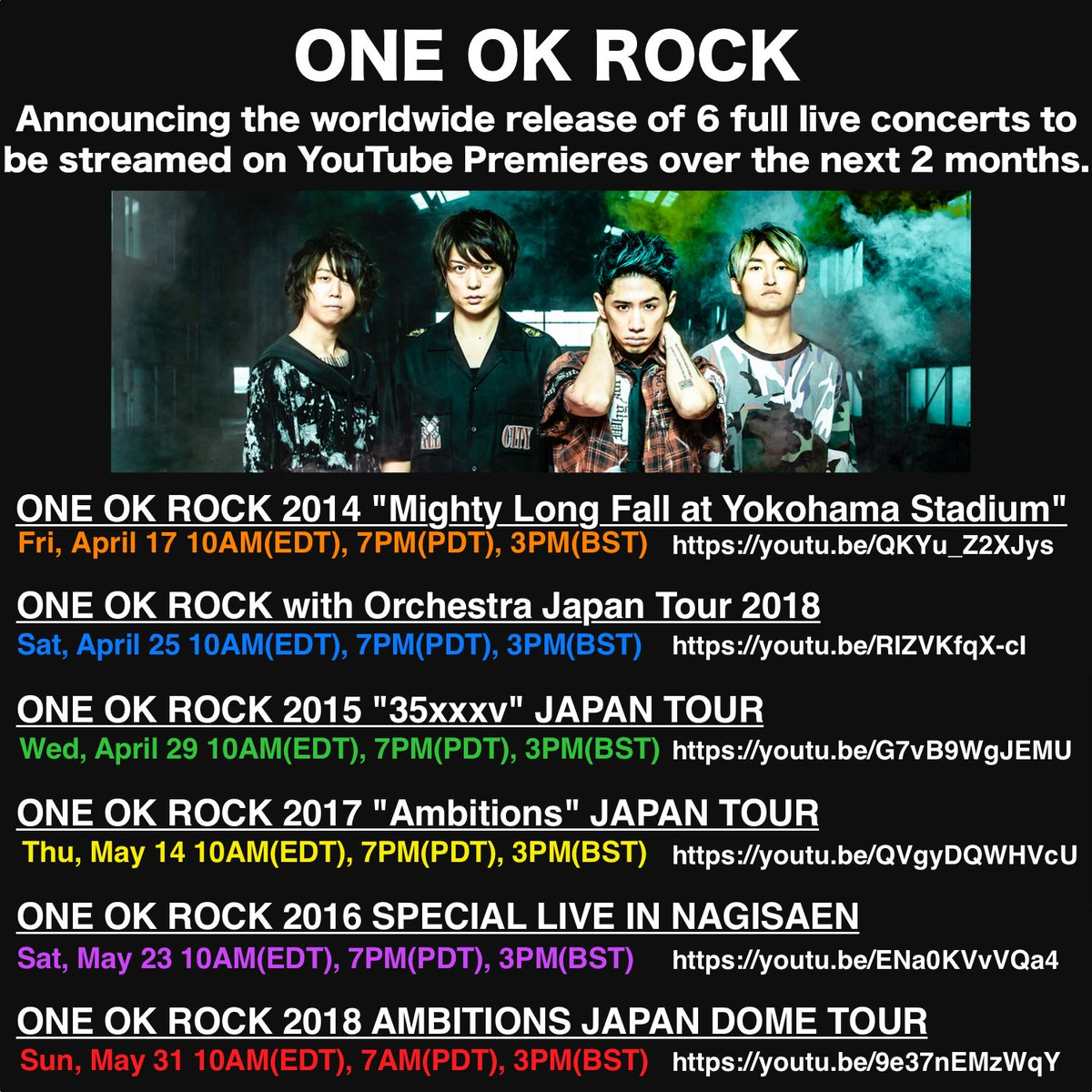 @Loudwire @LoudwireNights *ekhem* 6 past DVD livestream concerts for FREE (plus one additional documentary tour) worth of 380-400 USD, fanbase live tweeting party, and one parody video of their own to give us good and warm laugh~~ 😌