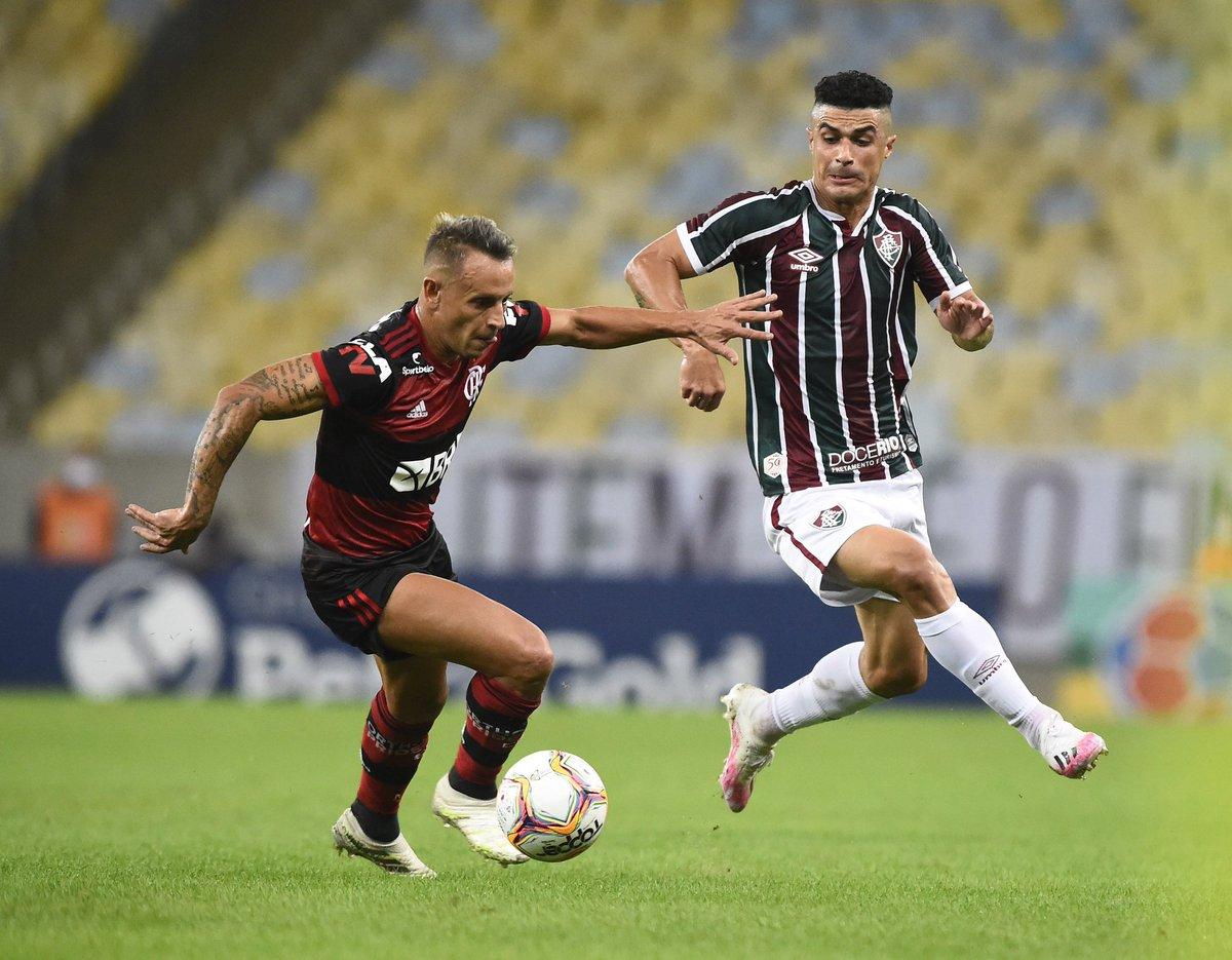 FIM DE JOGO!  Fluminense 1x1 Flamengo.  ⚽ Gilberto | Pedro.  — TEREMOS PÊNALTIS! https://t.co/Ds224qSYxB
