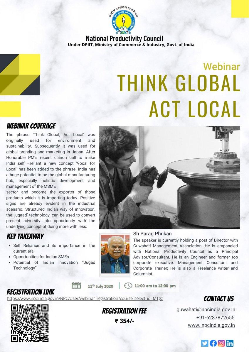 "Resurrection of India SMEs. ""Think Global Act Local""  #RegisterNow  for #webinar visit : https://bit.ly/3eY62wh  @startupindia @SMEForumIndia @SMEpost @minmsme @lubindia @lubpurvottar @vbpurvottarpic.twitter.com/s9UP5Gt9mV"