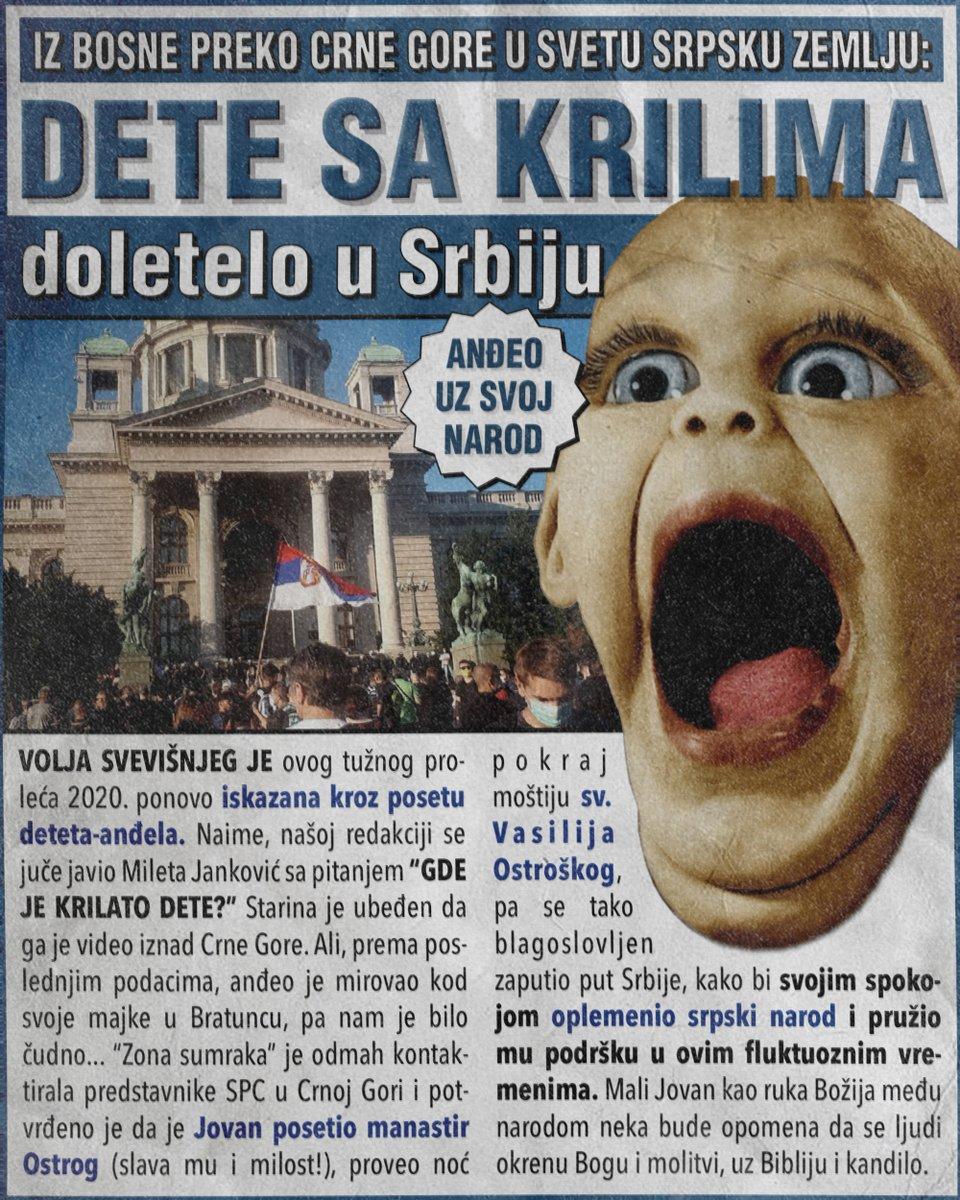 Dete sa krilima doletelo u Srbiju