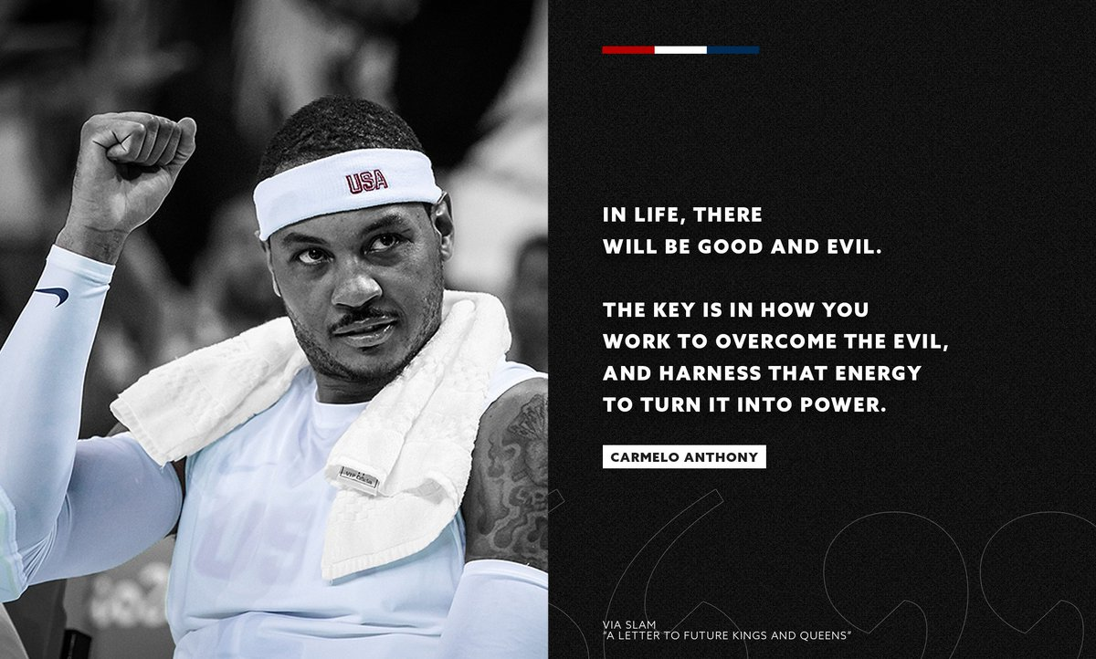 🇺🇸 Demand a better future. We are with you @carmeloanthony.