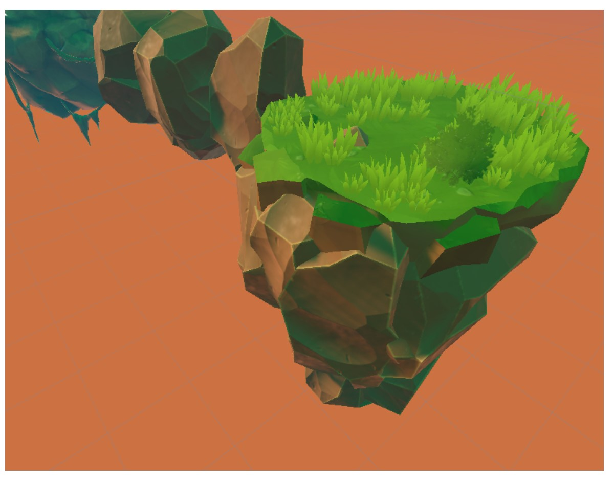 Testing out both the modular rocks and the grass! 🌱🪨 #unity #workinprogress #cielo #doublespicegames