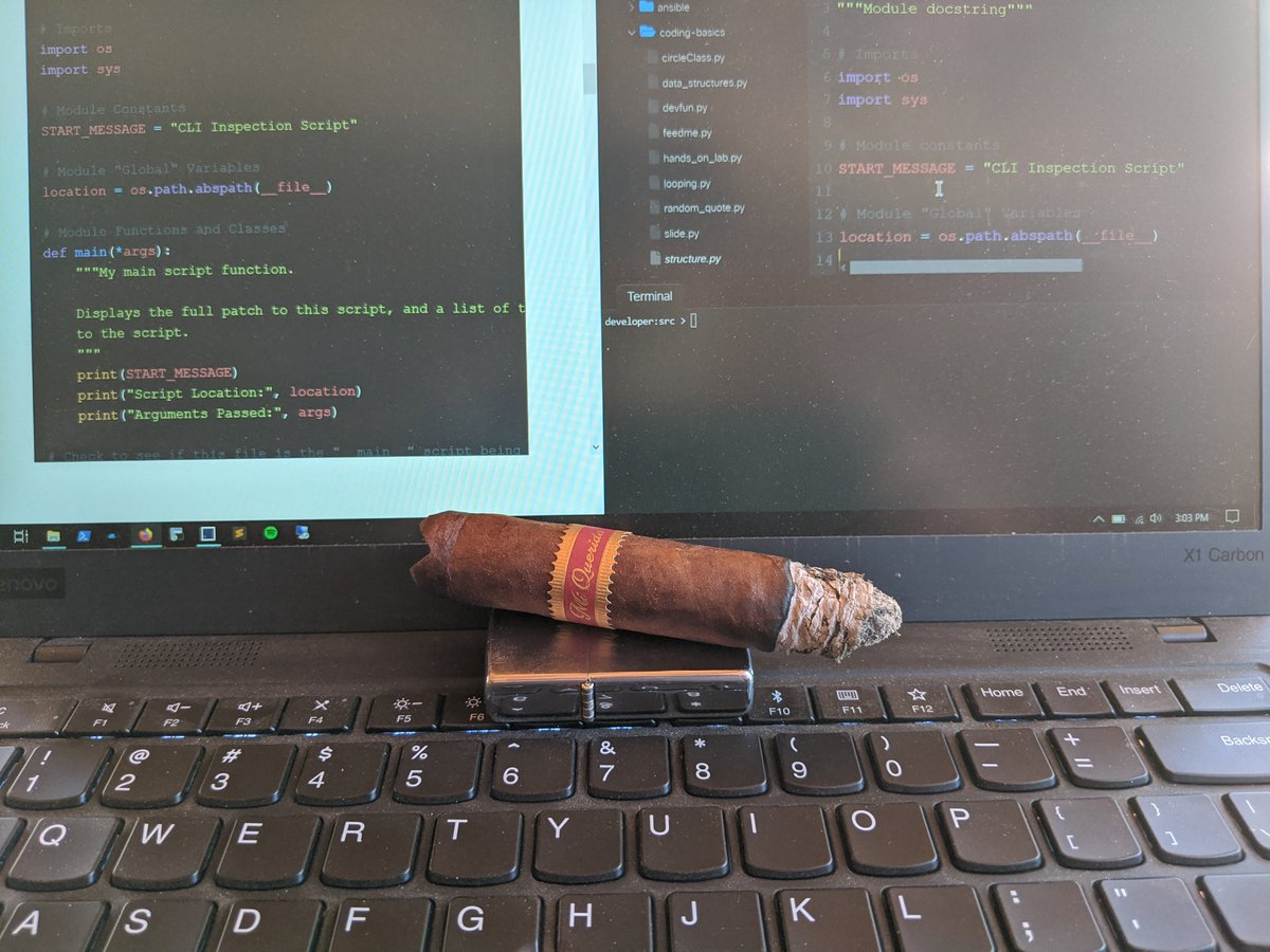 @CiscoDevNet - what better way to study than out on the patio this beautiful day, with a great #cigar?! #DevNetAssocFundamentals https://t.co/CRz3zBFMY1