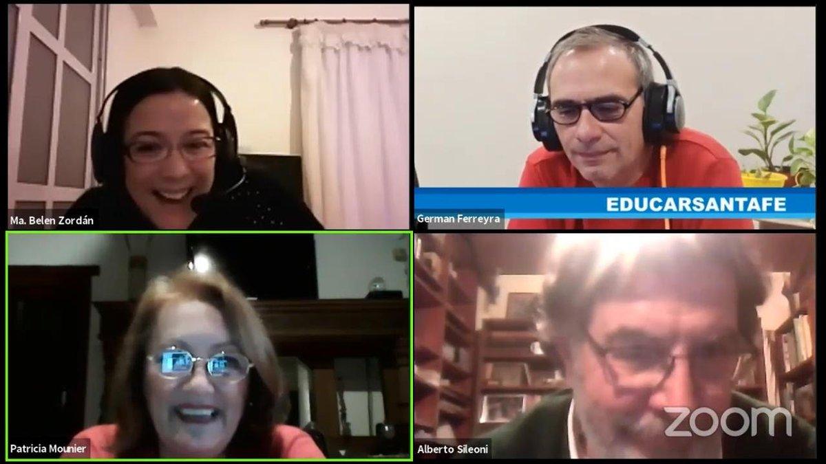 """Un enorme placer haber compartido con  @AlbertoSileoni y compañerxs de #EducarSantaFe el conversatorio sobre """"Estado, Sociedad y Educación en el contexto de la pandemia.""""  ¡Gracias por la invitación!  🎥Pueden verlo completo acá: https://t.co/WONvFeVVYu https://t.co/yCkOczcjEt"""