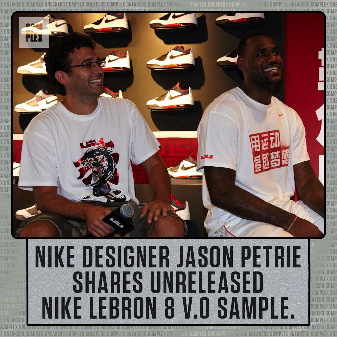 Before @KingJames left for Miami, Jason Petrie had him ready for winter in Cleveland with a playable sneaker boot version of the LeBron 8. Was going to be limited to a run of just 250 pairs, but plans were scrapped.
