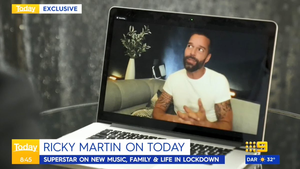 We caught up EXCLUSIVELY with the one and only Ricky Martin to talk new music, family, and life in lockdown. 🌟 #9Today https://t.co/Mo6xn6t4fR