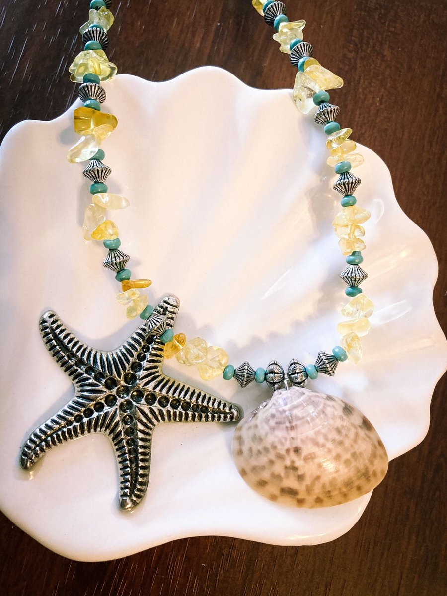 Excited to share the latest addition to my #etsy shop: Seashell Beaded Necklace #women #necklace #beach