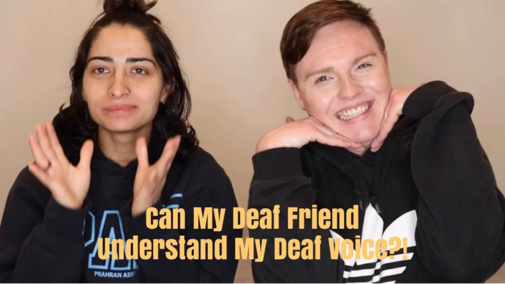 Brand new video is up!  CAN MY DEAF FRIEND UNDERSTAND MY DEAF VOICE?! | deeigrant  https://youtu.be/LrGxXYs8q3I   #deaf #SignLanguage #voice #Deaf #friends #youtube #filming #video #videos #deafvoice #siri #Siri #funny #comedy #comedyvideo #funnyvideo #acting #actor #camera #comedianpic.twitter.com/9FE1LDEmeT