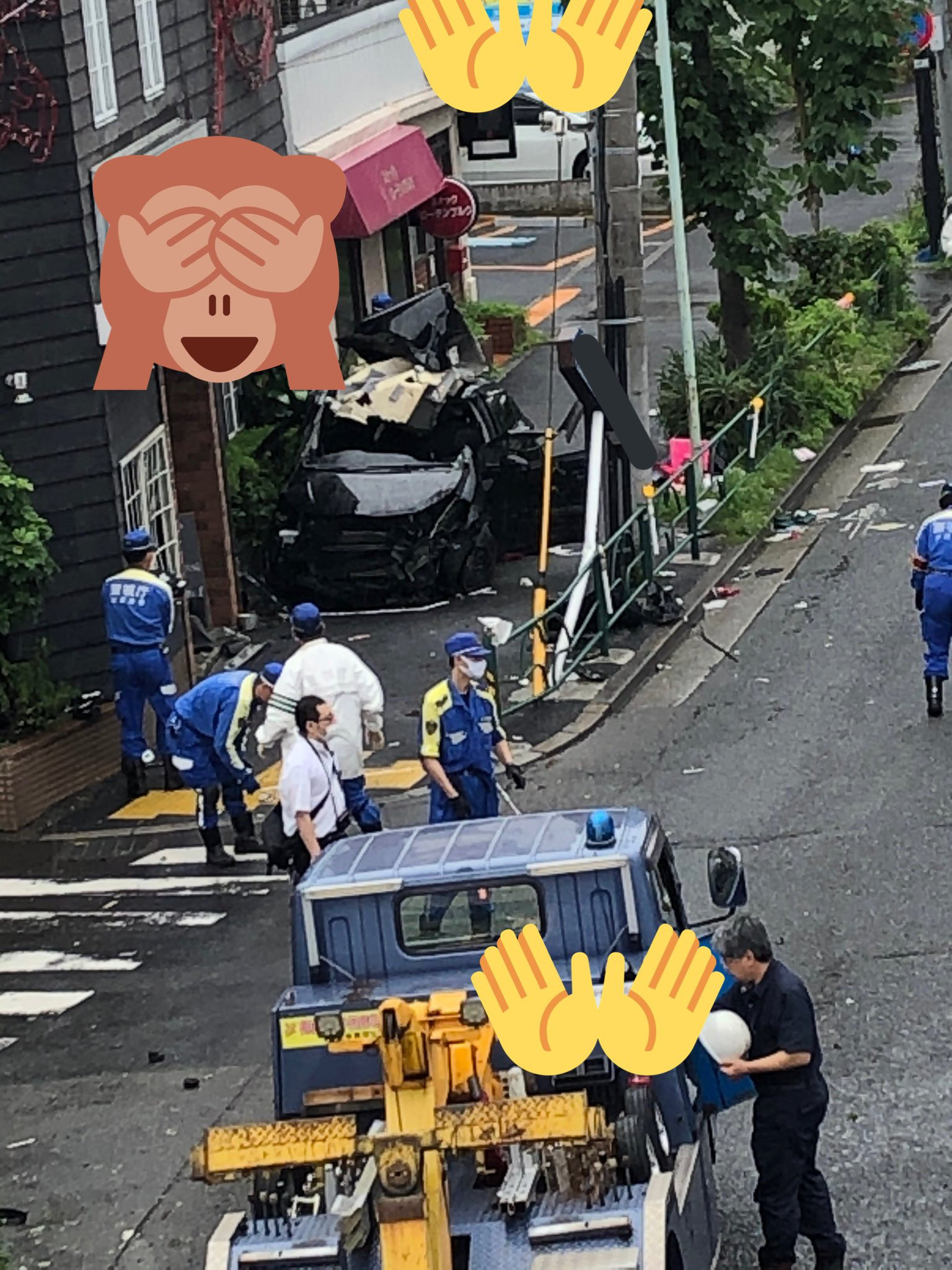 環状7号で20代の男女が死亡した事故現場の画像