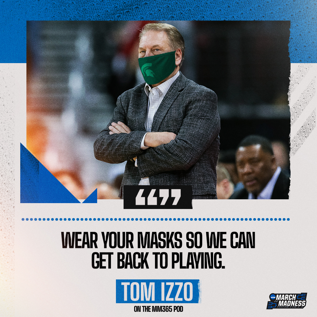 Tom Izzo has a message for the fans.  Hear from the @MSU_Basketball head coach on the #MM365 pod: 🎧 https://t.co/zpcSxPxl97 https://t.co/CGmRia0erX