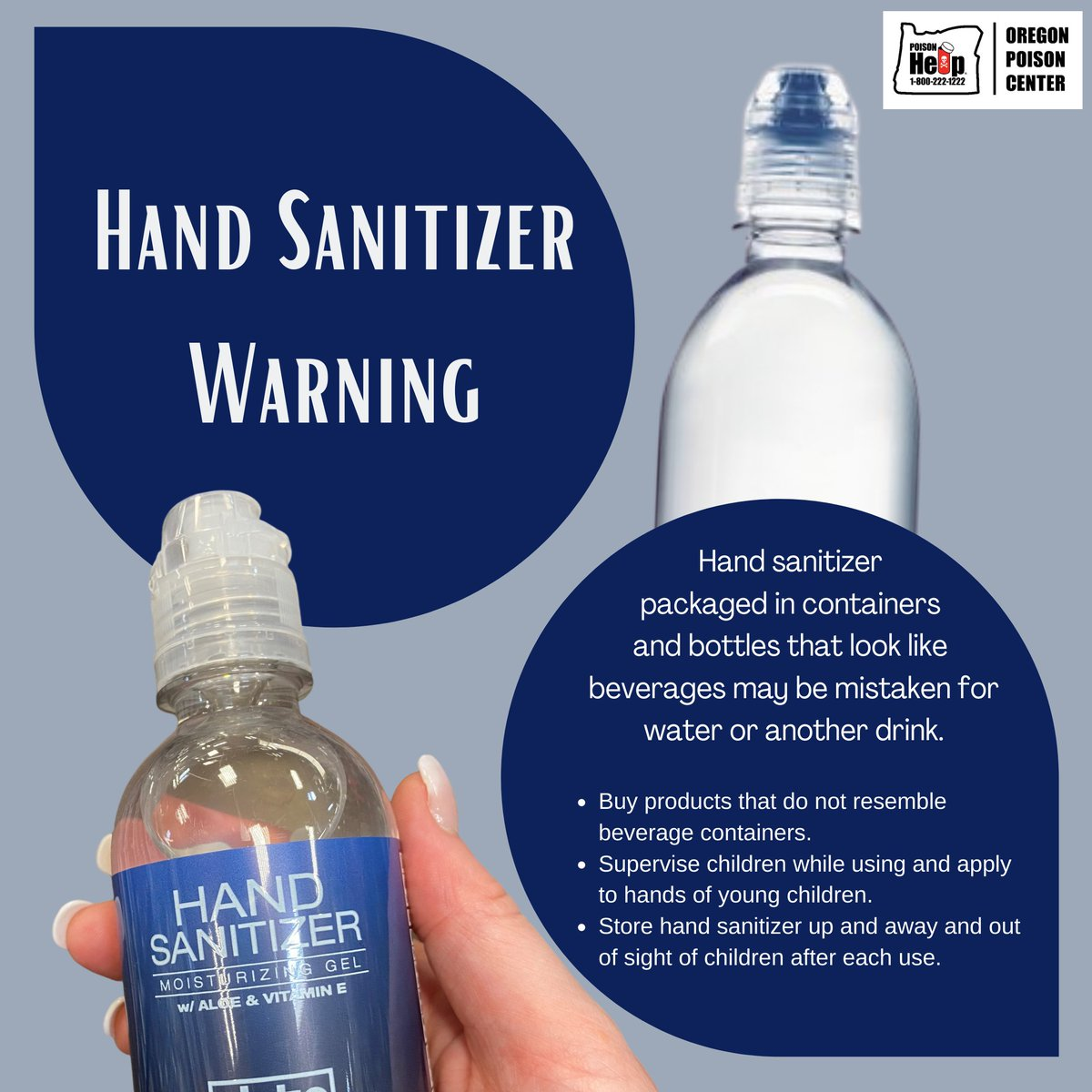 Lookalike products can lead to poisonings! Be aware of confusing packaging and call us at 1-800-222-1222 for accidental poisonings.