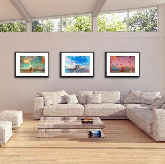 The only thing better than one unique wall art, is three unique pieces paired together 😍  Set of 3 Mixed Media Beach Fine Art  -   #homedecor #pamojaart #wallart #mixedmedia #mixedmediaart #art #artforsale #athome #design #vogueliving #minimal #beach #beachart #beachlover #b…