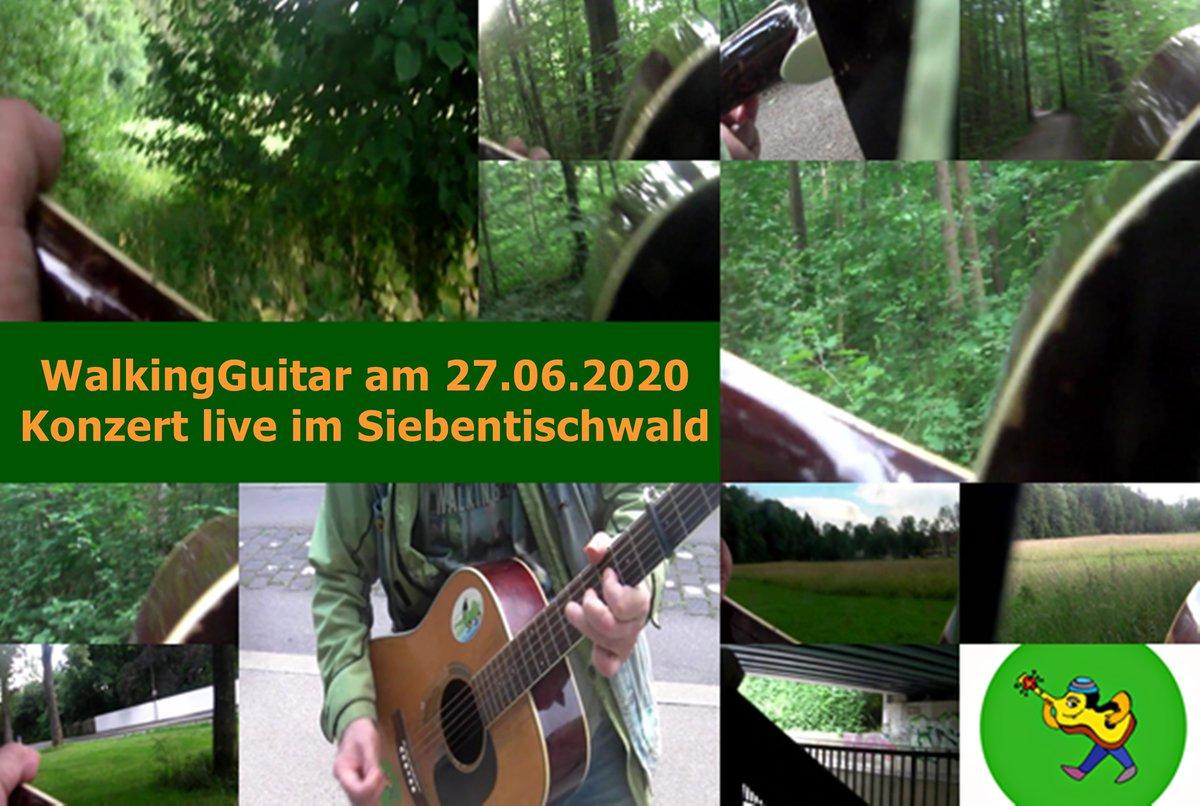 -  https://t.co/mTr9egNBAp WalkingGuitar Art & Musical Tour of Siebentischwald  am 27.06.2020 (walking concert LIVE _cuts  #comics by Ute #art & ongoing #trek & #music  #tour #walking #concert #konzert  für #colour grün #bäume #wald #wood #birds #nature  *im #Siebentischwald    - https://t.co/Ye9dG79qoY